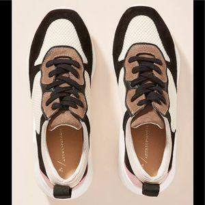 Anthropologie Ashton Platform Suede Sneakers